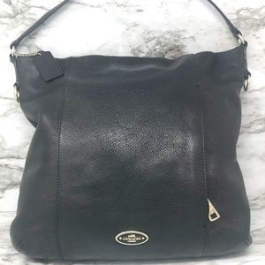 Coach Isabelle Pebbled Leather Crossbody Hobo Bag